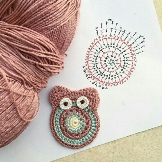 Tutorial aplique búho – crochet – Comando Craft