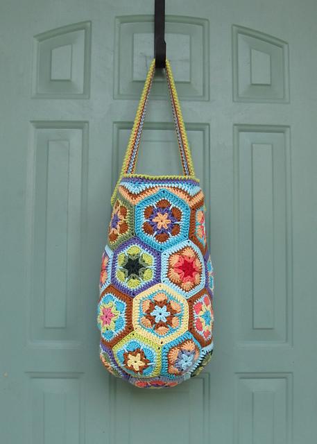 Bolso de crochet – Flor africana – Ganchillo – Diagrama – Patrón ...