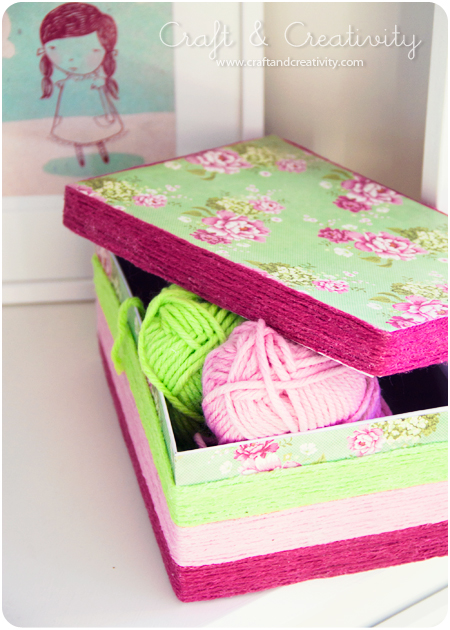 Caja forrada con lana comando craft - Cajas de zapatos decoradas ...