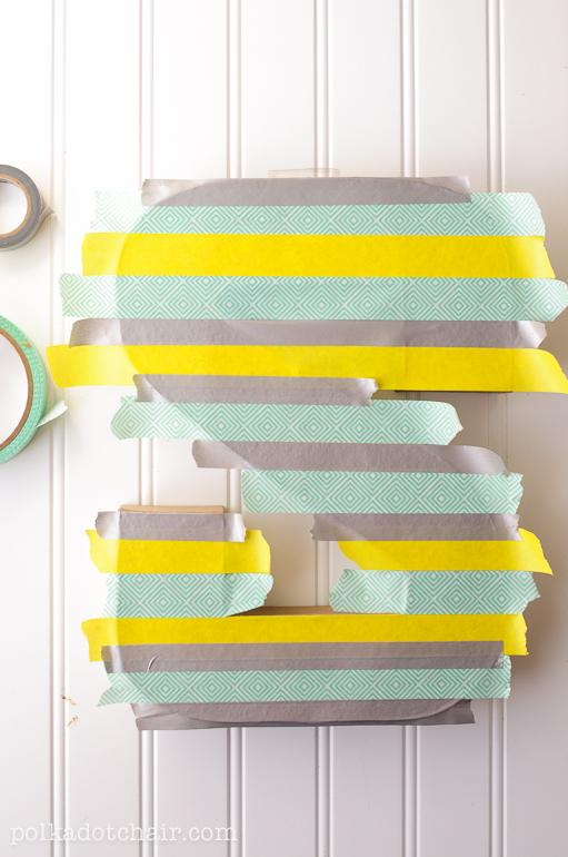 Letras de madera cubiertas de washi tape paso a paso - Decorar con washi tape ...