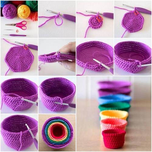 tutorial cesta de crochet