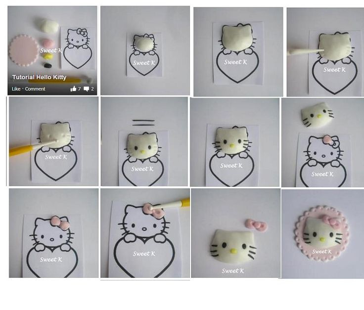 broche hello kitty tutorial fimo