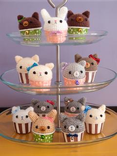 cupcake osito amigurumi patrón