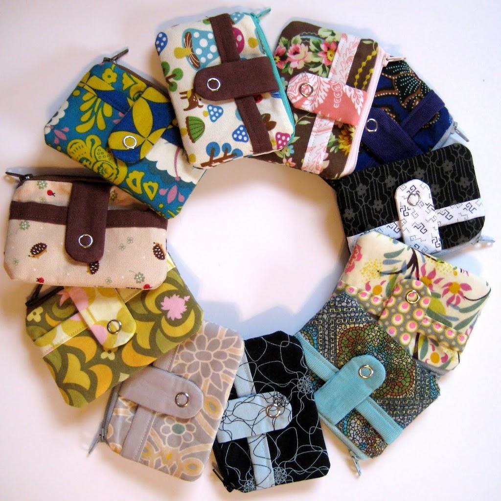 Tutorial de Costura: carteras - monederos de tela con cremallera