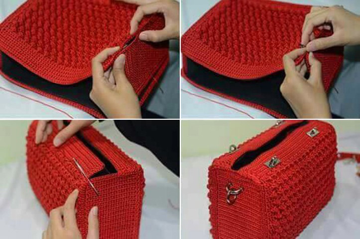Patr n bolso tipo chanel en ganchillo crochet comando craft - Bolsos tejidos a ganchillo ...
