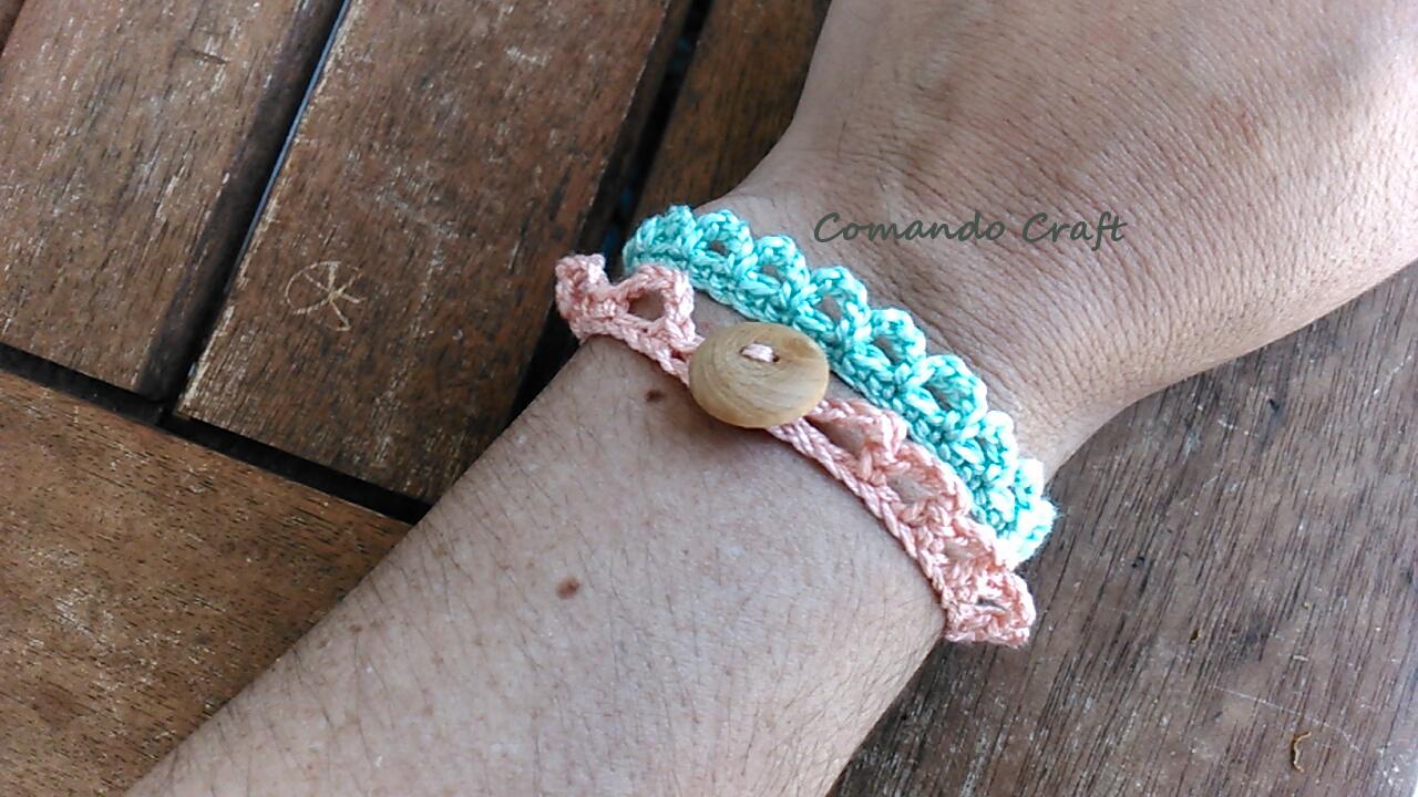 Tutorial y Patrón – Pulseras de Crochet Veraniegas – Comando Craft