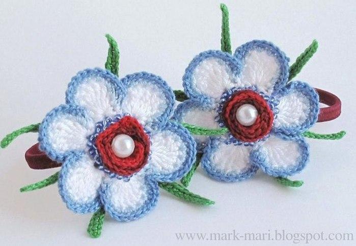 Flores De Crochet Tutorial Paso A Paso Flor De Ganchillo Con - Flores-ganchillo