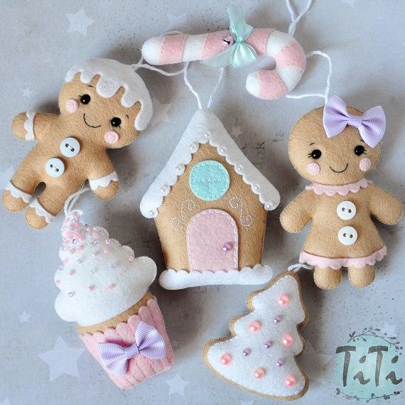 Moldes de fieltro navidad adornos navide os patrones - Adornos navidenos ganchillo patrones ...