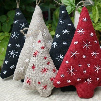 Rboles navidad de tela moldes patrones costura - Arbol navidad tela ...