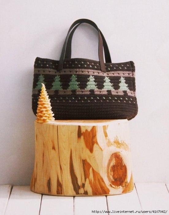 Bolso Tapestry – Ganchillo – Crochet – Patrones – Comando Craft