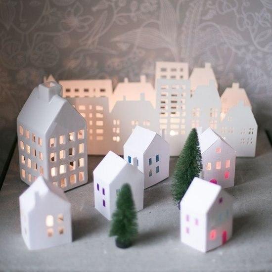 Casas De Papel Moldes Patrones Manualidades Con