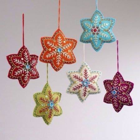 Estrellas Navidad De Fieltro Manualidades Para Navidad Comando Craft