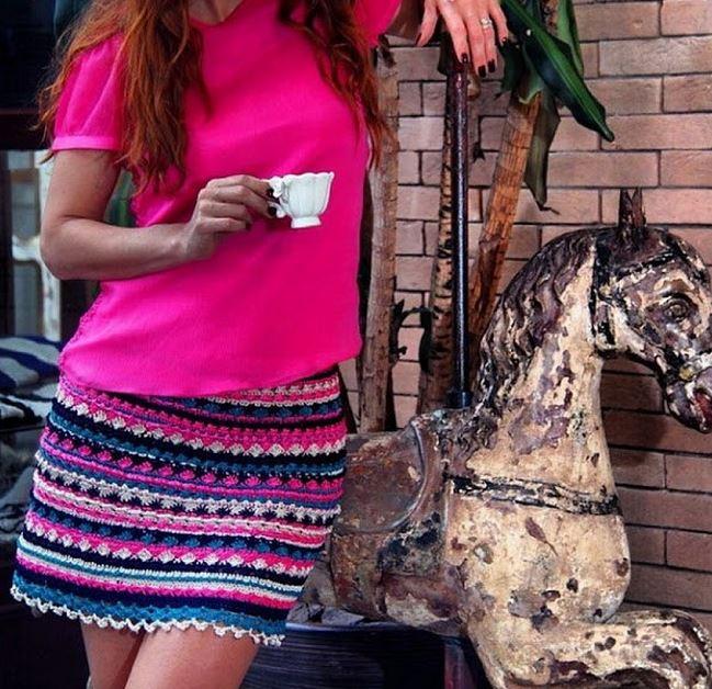 Patrones – Diagramas – Falda – Vestido – Crochet – Ganchillo ...