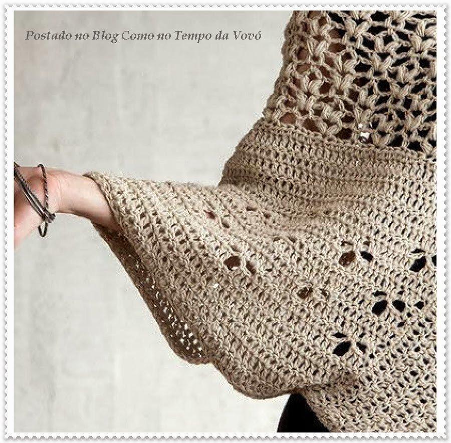 Jersey Crochet – Patrones – Paso a paso – Jersey Ganchillo – Comando ...
