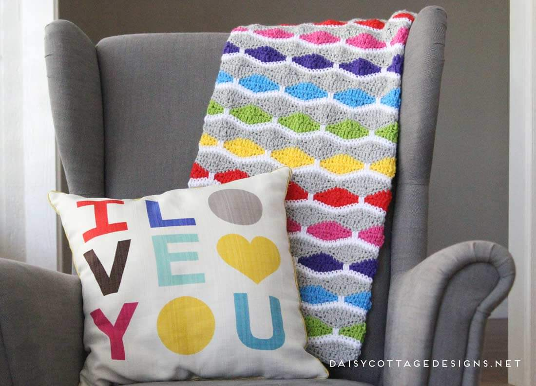 Patrón de manta en Crochet – Colcha Ganchillo – Comando Craft