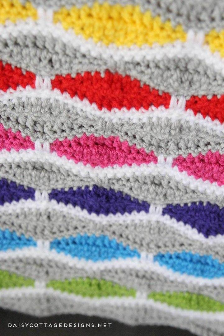 Contemporáneo Patrón Manta Crochet Bandera - Manta de Tejer Patrón ...