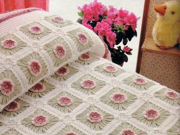 Motivos para colchas a crochet – Patrones – Diagramas – Ganchillo ...