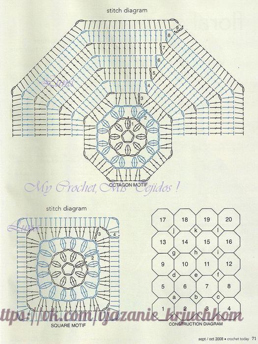 Manta de crochet – Diagramas Ganchillo – Patrones Crochet – Comando ...