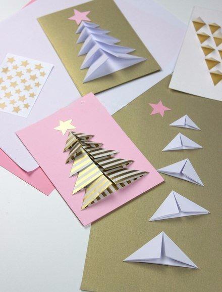 Tarjetas navidad rbol navidad manualidades navide as - Manualidades postales navidad ...