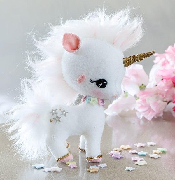 Patrones para hacer un unicornio de fieltro – Comando Craft