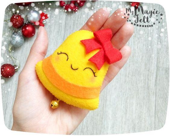 Moldes patrones campana arbol calcetin regalo estrella fieltro para navidad - Adornos de navidad hechos en casa ...