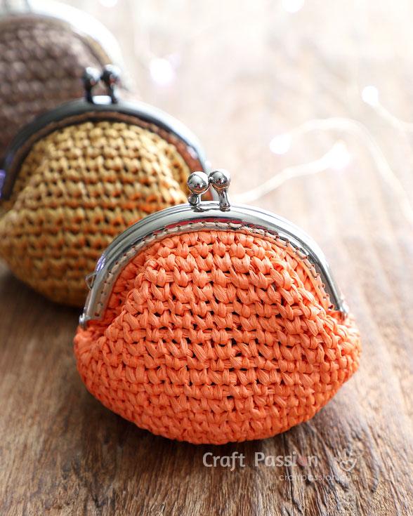 Monedero con boquilla de crochet paso a paso for Monedero ganchillo boquilla ovalada