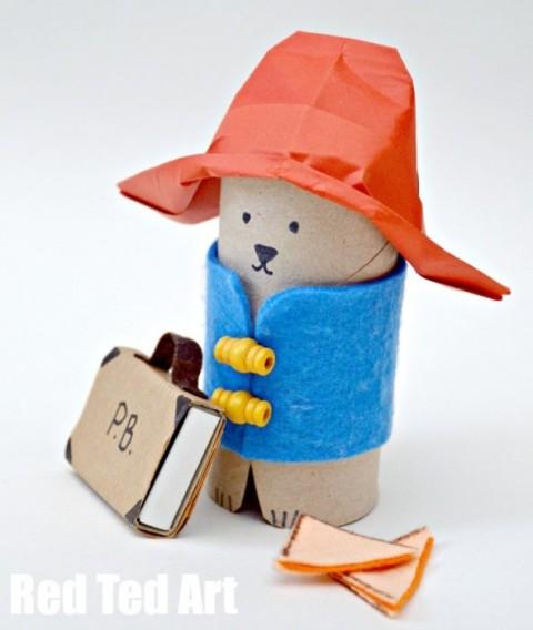Decora reciclando rollos de papel navidad manualidades con rollos de papel comando craft - Manualidades con papel craft ...