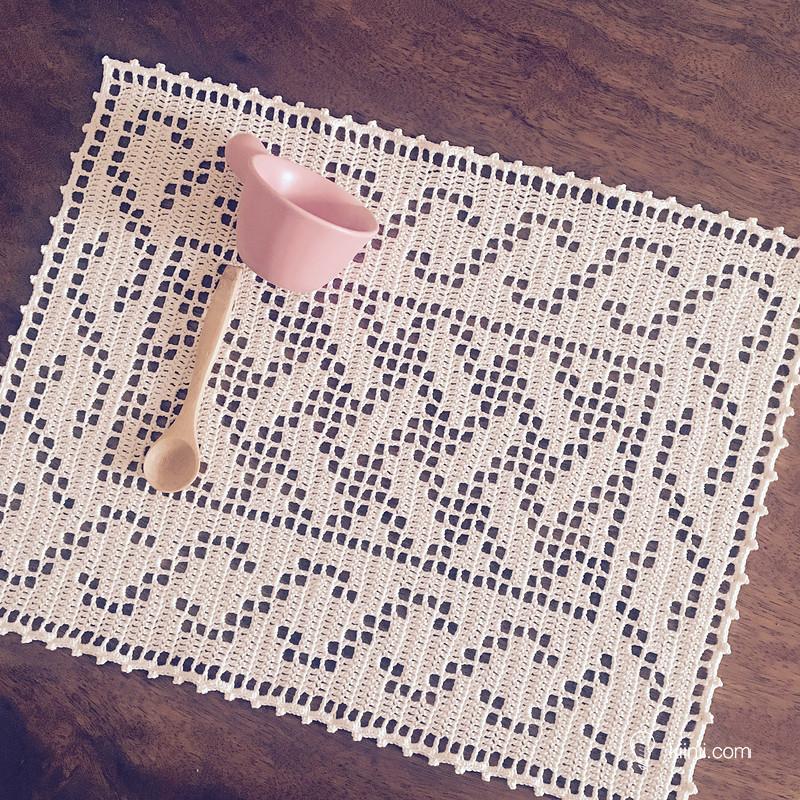 Tapete clásico de Crochet con diagrama – Comando Craft