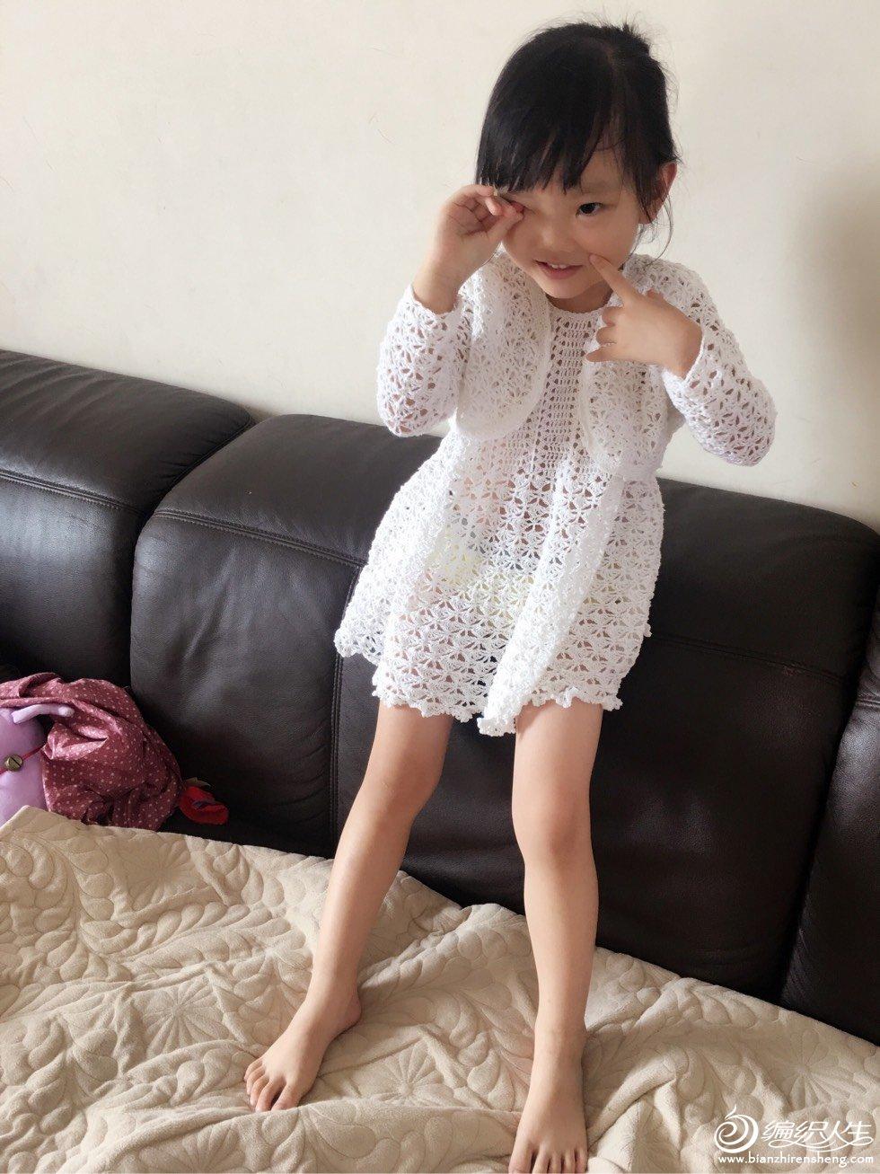 Patron Vestido y Chaqueta para niña de Crochet – Comando Craft a3e51828a15