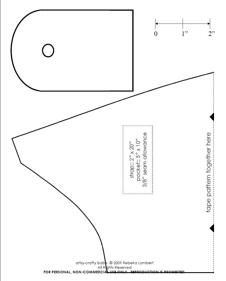 Tutorial paso a paso y patrón gratis de bolso de tela – Comando Craft