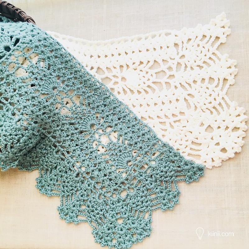Famoso Crochet Patrón De La Bufanda De La Piña Motivo - Manta de ...