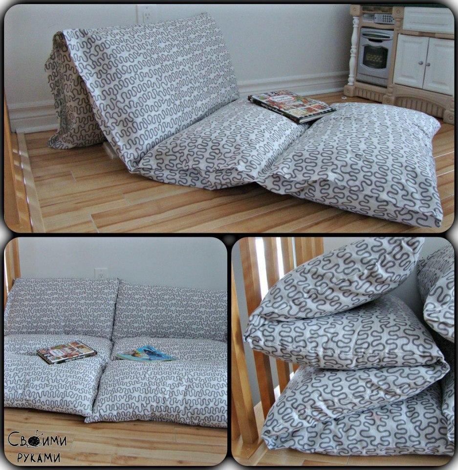 paso a paso almohadones colchonetas camas de suelo costura comando craft. Black Bedroom Furniture Sets. Home Design Ideas