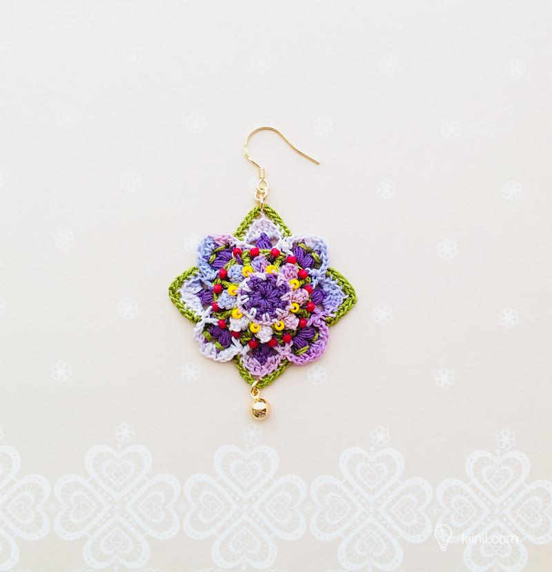 Pendientes mandala tridimensional – Crochet – Patrones – Comando Craft