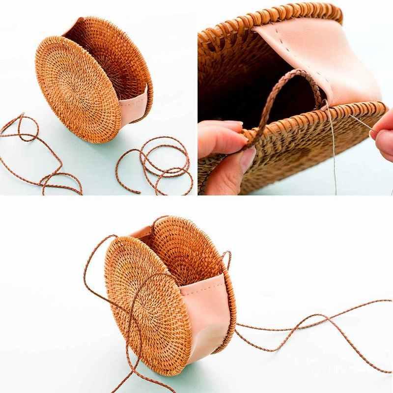 Bolso con salvamanteles o bajoplatos de mimbre paso a - Decorar cestas de mimbre paso a paso ...