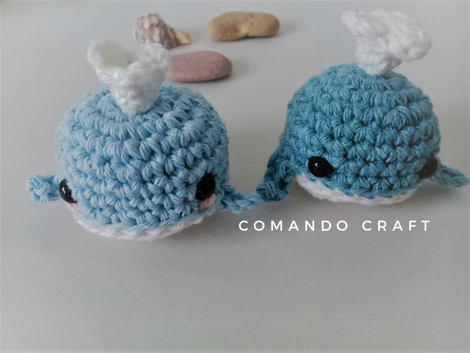 Patrón Gratis – Ballena de Crochet – Amigurumi – Ganchillo – Comando ...