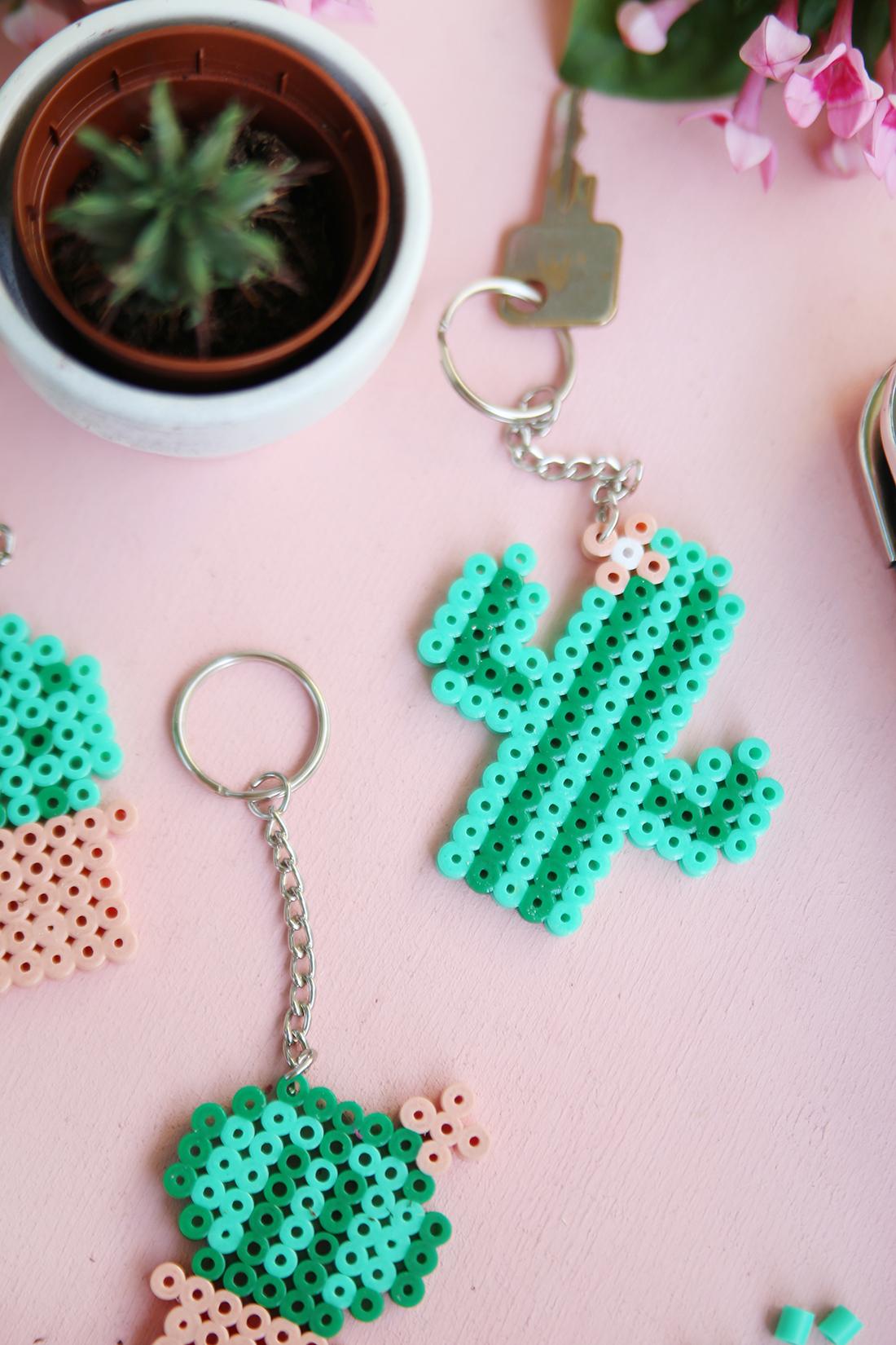 Llaveros De Cactus Con Hama Beads Comando Craft
